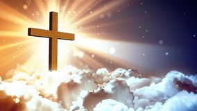 Vererings hemels kruis royalty-vrije illustratie