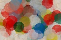 Verf bevlekte cirkels Stock Fotografie