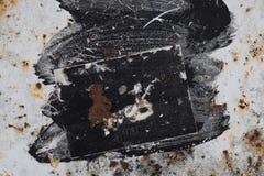 Verf bevlekte metaaloppervlakte Stock Foto