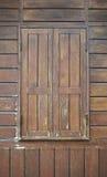 Verf die houten oude muur pellen Stock Foto