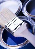 Verf en borstel Royalty-vrije Stock Afbeeldingen