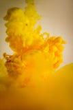 Verf in geel water, rood, kleurrijk, blauw, groen, Royalty-vrije Stock Fotografie