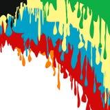 Verf kleurrijke druipende achtergrond Stock Foto's