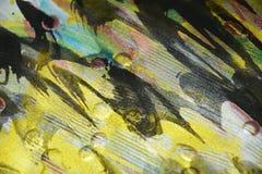 Verf van verf de gouden blauwe donkere wasachtige druppels De abstracte achtergrond van de waterverfverf stock afbeeldingen