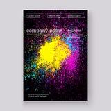 Verf van de neon ploetert de kleurrijke explosie artistiek dekkingsontwerp D vector illustratie
