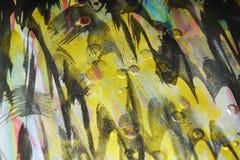 Verf van de wasplonsen van de verfwaterverf de gouden donkere roze De abstracte achtergrond van de waterverfverf Stock Afbeeldingen