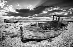 Verfallende Fischerboote Lizenzfreies Stockfoto