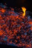 Verfallende Kohlen Stockbild