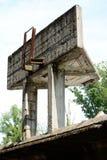 Verfallender Drehkopf entlang der ovalen Bahn von Monza lizenzfreie stockfotografie