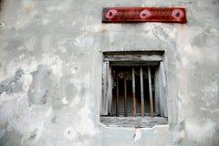 Verfallendes Fenster und Wand - 2 Stockfotografie