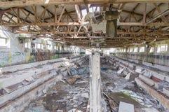 Verfallene Kaserne Stockbild