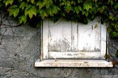 Verfallener Fensterrahmen Stockfoto