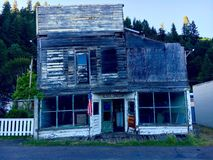 Verfallenes Haus in Oregon stockbilder