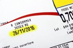Verfallsdatum oder gut vor Datum Stockbilder