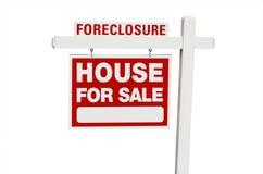 Verfallserklärung-Haus für Verkaufs-Grundbesitz-Zeichen Lizenzfreie Stockfotos