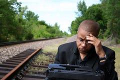Verfasser auf den Bahnen stockfotos