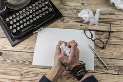 Verfasserausfall Leiden der Kreativität Beschneidungspfad eingeschlossen Lizenzfreie Stockfotos