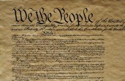 Verfassung der Vereinigten Staaten Lizenzfreie Stockbilder
