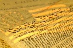 Verfassungsurkunde Stockfotos