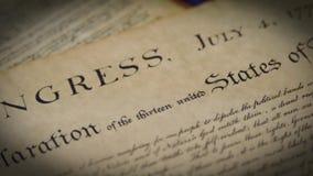 Verfassungsurkunde-Präambel Vereinigter Staaten zur Konstitution stock video