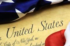 Verfassungsurkunde Vereinigter Staaten Lizenzfreies Stockfoto