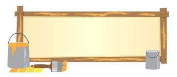 Verfbanner Royalty-vrije Stock Afbeelding