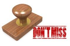 Verfehlen Sie nicht bewaldeten Siegelstempel Lizenzfreies Stockbild