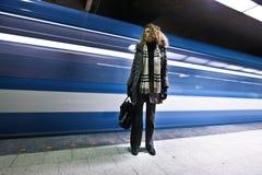 Verfehlte die Untergrundbahn Stockfotografie
