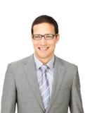 Verfijnde zakenman die glazen draagt Royalty-vrije Stock Foto's