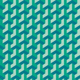 Verflochtenes Muster gleichmäßig wiederholen Stockfotografie