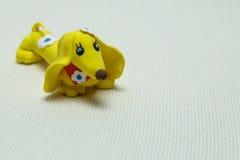 Verfolgen Sie ein Spielzeug, das vom Plasticine hergestellt wird Lizenzfreies Stockfoto