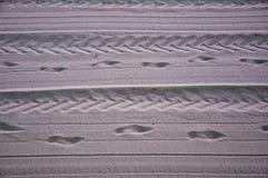 Spur im Sand Lizenzfreie Stockfotografie