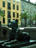 Verfolgen Sie Statue historischer Vegueta-Park großartige Kanarische Insel Spanien Stockfotografie