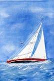 Verfolgendes Segelboot stock abbildung