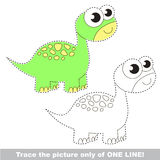 Verfolgt zu werden Seite, Kinderspurlernspiel Lizenzfreie Stockbilder