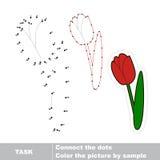 Verfolgt zu werden Tulpe Vektorzahlenspiel Stock Abbildung