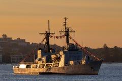 Verfolgung nigerischer Schneider-ehemalige Vereinigter Staaten der Marine-NNS des Donner-F90 der K?stenwache-USCGC, Hamilton-klas stockbild