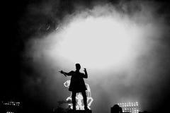 Verfolgung u. Status (britische Produktionsduoband der elektronischen Musik) führt an FLUNKEREI Festival durch Lizenzfreies Stockfoto
