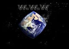 Verformen unseres Planeten stockbild