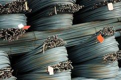 Verformte Stahlstäbe Lizenzfreies Stockfoto