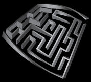 Verformtes Labyrinth 3d Lizenzfreies Stockbild