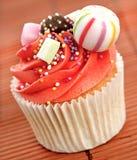 Verfraaid cupcake stock afbeeldingen