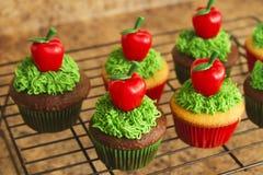 Verfraaid Cupcakes-Voedsel stock foto's