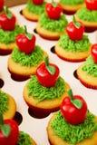 Verfraaid Cupcakes-Voedsel royalty-vrije stock afbeelding