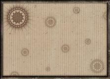 Verfraaid kader met oude document achtergrond Stock Fotografie