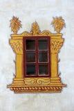 Verfraaid kasteelvenster Stock Afbeelding