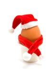 Verfraaid Kerstmisei in houder Stock Afbeelding