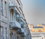 Verfraaide balkons in Bristol stock foto's
