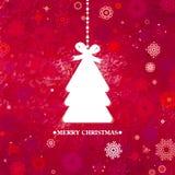 Verfraaide blauwe Kerstboom. EPS 8 Royalty-vrije Stock Foto