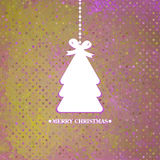 Verfraaide blauwe Kerstboom. EPS 8 Stock Afbeeldingen